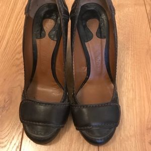 Chloe brown leather shoes